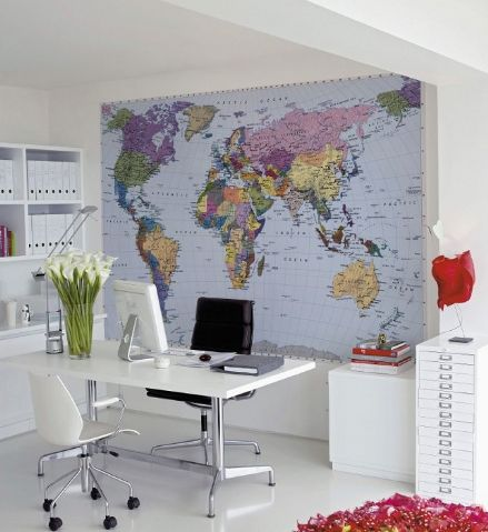 A Map of the world wallpaper mural
